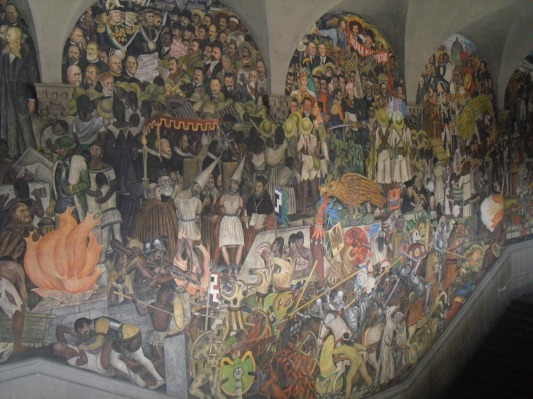 Pedaço do mural do Diego Rivera, feito entre 1930 e 1951